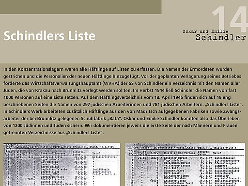 14 Schindlers Liste