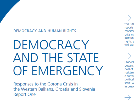 Democracy and the state of emergency I