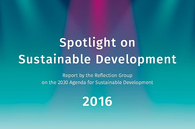 "Cover des Berichts ""Spotlight on Sustainable Development"""