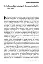 Arabellion und die Ratlosigkeit der deutschen Politik