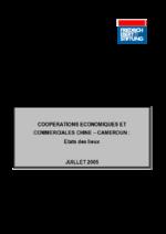 Cooperations économiques et commerciales Chine - Cameroun