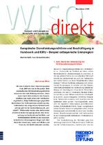 Europäische Dienstleistungsrichtlinie und Beschäftigung in Handwerk und KMU
