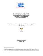Desigualdad y exclusion social en Centroamerica