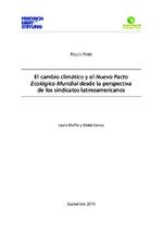 El cambio climático y el Nuevo Pacto Ecológico Mundial desde la perspectiva de los sindicatos latinoamericanos