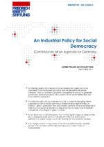An industrial policy for social democracy