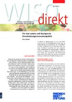 Für eine soziale und ökologische Dienstleistungsinnovationspolitik