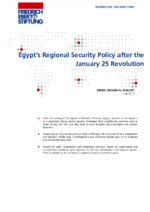 Egypt's regional security policy after the january 25 revolution