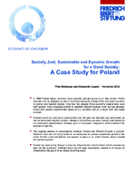 Socially just, sustainable and dynamic growth for a good society: A case study for Poland