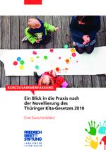 Ein Blick in die Praxis nach der Novellierung des Thüringer Kita-Gesetzes 2010