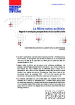 La filière coton au Bénin