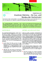 Investives Dilemma - der Aus- und Neubau der Hochschulen