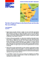The role of regional powers in the field of peace and security