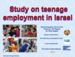Study on teenage employment in Israel