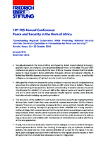 10th FES annual conference: Peace and security in the Horn of Africa