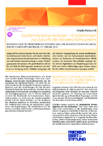 Exzellenzinitiative evaluiert - Empfehlungen zur Zukunft des Wissenschaftssystems