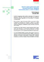 Hacia la aplicación plena del Acuerdo de París