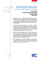 Respuestas de Estados Unidos a la crisis de los niños migrantes centroamericanos