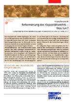Reformierung des Kapazitätsrechts - was tun?