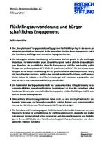 Flüchtlingszuwanderung und bürgerschaftliches Engagement