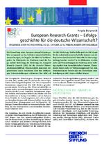European Research Grants - Erfolgsgeschichte für die deutsche Wissenschaft?