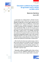 Educação e políticas de promoção da igualdade racial no Brasil de 2003 a 2014