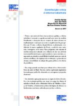 Contribuição crítica à reforma trabalhista