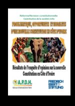Problematique, opportunites et modalites d'une nouvelle constitution en Côte d'Ivoire