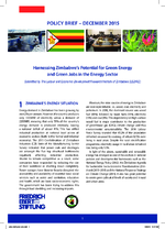 Harnessing Zimbabwe's potential for green energy and green jobs in the energy sector