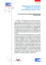 Mapeamento dos principais desafios de violência e criminalidade no Brasil - 2017