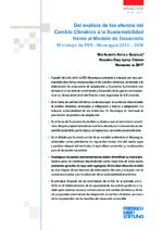 Del análisis de los efectos del cambio climático a la sustentabilidad frente al modelo de desarrollo
