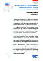 Austeridade fiscal e desestruturação das políticas públicas voltadas à agricultura familiar brasileira