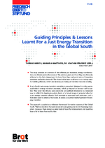 Guiding principles & lessons learnt for a just energy transition in the Global South
