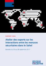 Atelier des experts sur les interactions entre les menaces sécuritaires dans le Sahel