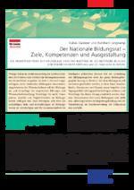 Der Nationale Bildungsrat - Ziele, Kompetenzen und Ausgestaltung