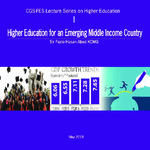 Higher education for an emerging middle income country