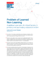 Problem of learned non-learning