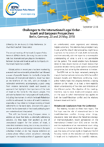 Challenges to the international legal order - Israeli and European perspectives