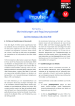 FinTechs - Marktwirkungen und Regulierungsbedarf