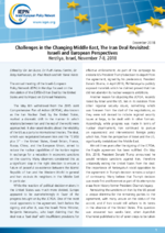 Challenges in the changing Middle East, the iran deal revisited: Israeli and European perspectives