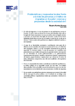 Problemáticas y respuestas locales frente a la trata de personas y el tráfico de migrantes en Ecuador