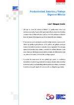 Productividad, salarios y trabajo digno en México