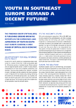 Youth in Southeast Europe demand a decent future!