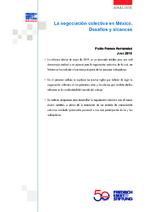 La negociación colectiva en México