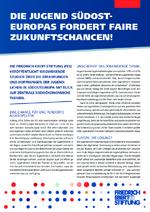 Die Jugend Südost-Europas fordert faire Zukunftschancen!