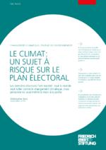 Le climat: un sujet à risque sur le plan électoral