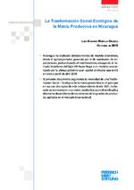 La trasformación social ecológica de la matriz productiva en Nicaragua