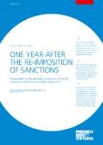 One year after the re-imposition of sanctions
