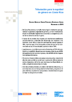 Tributación para la equidad de género en Costa Rica