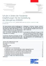 Schule in Zeiten der Pandemie - Empfehlungen für die Gestaltung des Schuljahres 2020/21