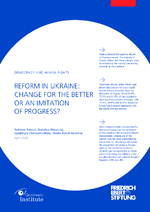 Reform in Ukraine: change for the better or an imitation of progress?